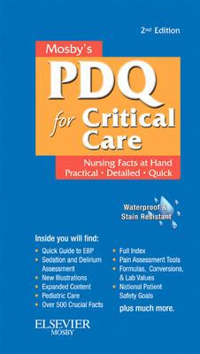 Mosby's Nursing PDQ for Critical Care (BOK)