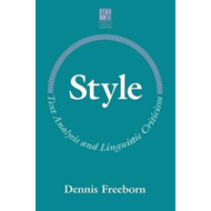 Style: Text Analysis and Linguistic Criticism (BOK)