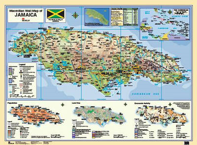 Macmillan Wall Map of Jamaica (BOK)