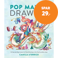 Produktbilde for Pop Manga Drawing - 30 Step-by-Step Lessons for Pencil Drawing in the Pop Surrealism Style (BOK)