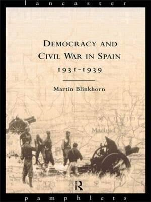 Democracy and Civil War in Spain 1931-1939 (BOK)