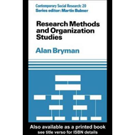 Research Methods and Organization Studies (BOK)