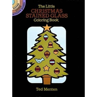 Little Christmas Stained Glass Coloring Book (BOK)