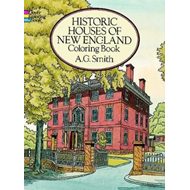 Historic Houses of New England Coloring Book (BOK)
