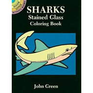 Sharks Stained Glass Coloring Book (BOK)