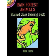 Rain Forest Animals Stained Glass Colouring Book (BOK)