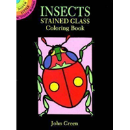 Insects Stained Glass Colouring Book (BOK)