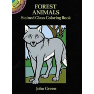 Forest Animals Stained Glass Colouring Book (BOK)