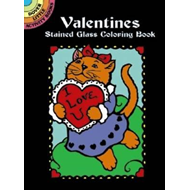 Valentines Stained Glass Coloring Book (BOK)