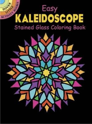 Easy Kaleidoscope Stained Glass Coloring Book (BOK)