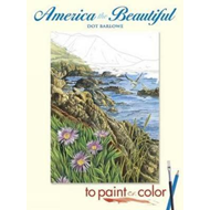 America the Beautiful to Paint or Color (BOK)