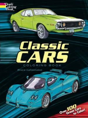 Classic Cars Coloring Book (BOK)