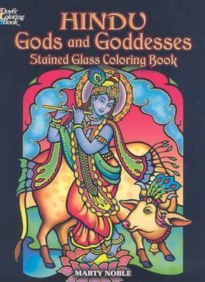 Hindu Gods and Goddesses Stained Glass Coloring Book (BOK)