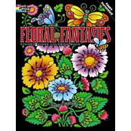 Floral Fantasies Stained Glass Coloring Book (BOK)