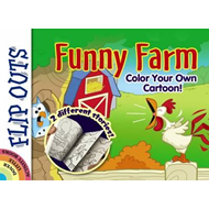 Flip Outs -- Funny Farm: Color Your Own Cartoon! (BOK)