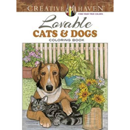 Creative Haven Lovable Cats and Dogs Coloring Book (BOK)