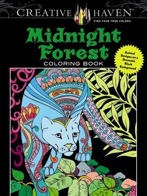 Creative Haven Midnight Forest Coloring Book (BOK)