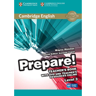Cambridge English Prepare! Level 3 Teacher's Book with DVD a (BOK)