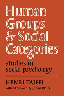 Human Groups and Social Categories (BOK)
