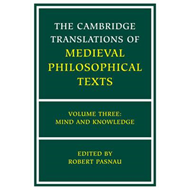 Cambridge Translations of Medieval Philosophical Texts: Volu (BOK)