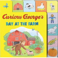 Curious George's Day at the Farm (Tabbed Lift-the-Flap) (BOK)