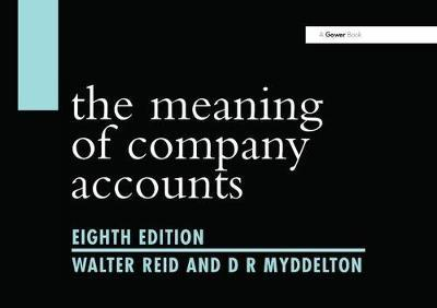 The Meaning of Company Accounts (BOK)