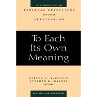 To Each Its Own Meaning (BOK)