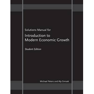 Solutions Manual for Introduction to Modern Economic Growth