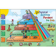 Fitness for Life Physical Activity Pyramid for Kids Poster (BOK)