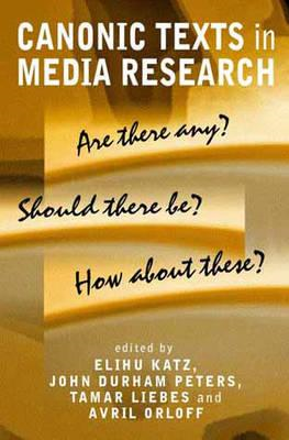 Canonic Texts in Media Research (BOK)