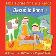 Jesus is Born: A Spot-the-Difference Jigsaw Book (BOK)