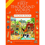First 1000 Words in Spanish Sticker Book (BOK)