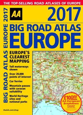 AA Big Road Atlas Europe 2017 (BOK)