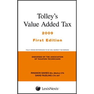 Tolley's Value Added Tax (includes First Ands) (BOK)