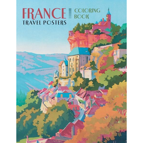 France Travel Posters Colouring Book (BOK)