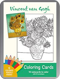 Vincent Van Gogh Coloring Cards (BOK)