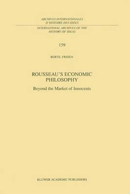 Rousseau's Economic Philosophy (BOK)