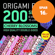 Produktbilde for Origami Paper 200 sheets Cherry Blossoms 6 inch (15 cm) - High-Quality Origami Sheets Printed with 1 (BOK)