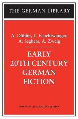 Early 20th Century German Fiction (BOK)