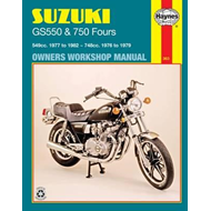 Suzuki GS550 and GS750 Fours 549cc 1977-82 and 748cc 1976-79 Owner's Workshop Manual (BOK)