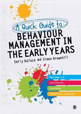 Quick Guide to Behaviour Management in the Early Years (BOK)