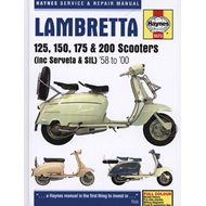 Lambretta Li, TV, SX & DL Scooters Service & Repair Manual (BOK)