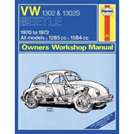 VW 1302S Super Beetle Owners Workshop Manual (BOK)