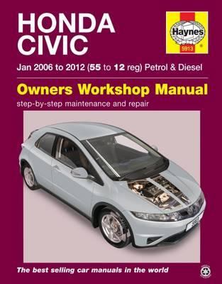 Honda Civic Petrol and Diesel Owner's Workshop Manual (BOK)