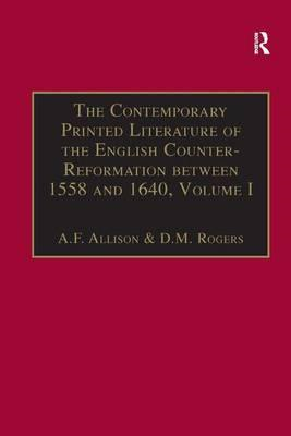 Contemporary Printed Literature of the English Counter-Refor (BOK)