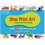 Shoe Print Art: Step into Drawing: Create 55 Shoe Print Drawings Step by Step! (BOK)