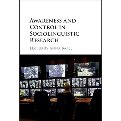 Awareness and Control in Sociolinguistic Research (BOK)