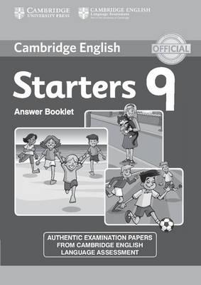 Cambridge English Young Learners 9 Starters Answer Booklet (BOK)
