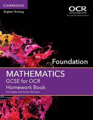 GCSE Mathematics for OCR Foundation Homework Book (BOK)