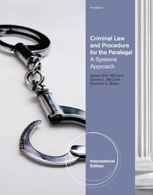 Criminal Law and Procedure for the Paralegal (BOK)